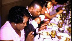 Dinner Black African American Thanksgiving 1970s Vintage Film Home Movie 8335 Stock Footage