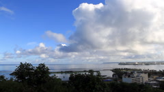 Aerial of Tumon Bay GUAM, USA Stock Footage