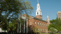 Stock Video Footage of United Church on the Green, New Haven, CT