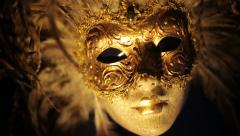 Moving mask at night Stock Footage
