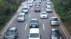 Shenzhen Baoan Xixiang road traffic congestion - stock footage