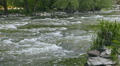 mountain river with rough water, slow motion Footage
