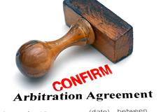 Arbitration agreement Stock Photos