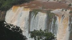 Brazilian waterfall. Foz do Iguazu, Brazil. World Famous Iguazu Falls. Stock Footage