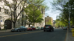 Stock Video Footage of College Street in New Haven, CT Yale University