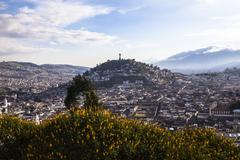 Viewpoint in San Juan, Quito. - stock photo