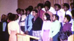 African American Black Gospel CHURCH Choir 1970s Vintage Film Home Movie 8351 - stock footage