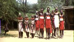 African Maasai Tribe Jumping Dance Vintage Film Retro Film Home Movie 8356 - stock footage
