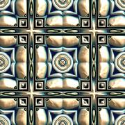 Stock Illustration of Glazed tiles seamless generated texture