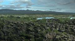 Epic Landscape with Dark Sharp Rocks in ICELAND Stock Footage