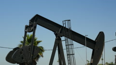 Working oil pump Stock Footage