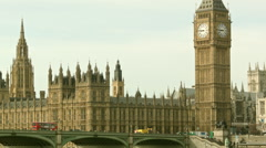 Classic view of the Big Ben Stock Footage