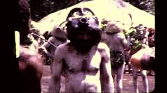 Goroka Papua New Guinea Tribe Warriors Men Vintage Film Film Home Movie 8366 Stock Footage