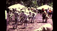 Goroka Papua New Guinea Tribe Warrior Man Vintage Film Film Home Movie 8368 Stock Footage