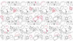 Kitechen icons, Video animation - stock footage