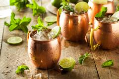 Icy Cold Moscow Mules - stock photo