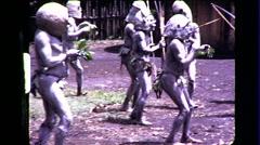 Goroka Papua New Guinea Tribe Warrior Man Vintage Film Film Home Movie 8382 Stock Footage