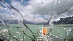 Ferry Boat Storm and Waves 4K Stock Footage