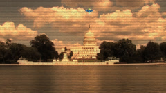UFO Over The White House Stock Footage