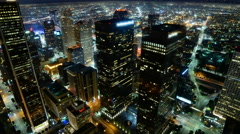 4K Time Lapse of Downtown LA Power Shut Off at Earth Hour 2015 -Zoom Out- Stock Footage