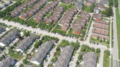 Aerial - Landscape of suburban houses Stock Footage