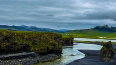 4K TimeLapse - Reynisdrangar beach, Iceland Stock Footage