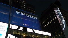 Barclays bank building New York City - stock footage