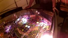 Pinball Machine Flashing Blinking Strobing Lights Fun Exciting Colors Flippers - stock footage