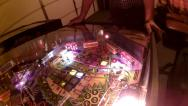 Stock Video Footage of Pinball Machine Flashing Blinking Strobing Lights Fun Exciting Colors Flippers