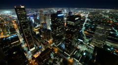 4K Time Lapse of Downtown LA Power Shut Off at Earth Hour 2015 Stock Footage