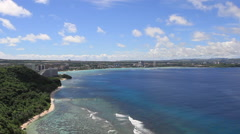 Beaches and Bay in GUAM, USA Stock Footage