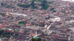 Fast panning over the Quito historic center Stock Footage