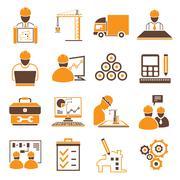 Engineering icons Stock Illustration