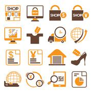 Shopping icons Stock Illustration
