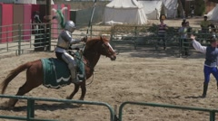 Renaissance Faire Jousting Slow Motion Stock Footage