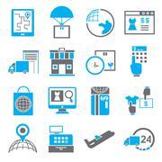 shopping icons - stock illustration