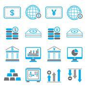 financial icons - stock illustration
