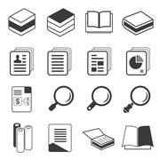 Book and document icons Stock Illustration