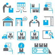 manufacturing icons - stock illustration