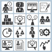 Business management icons Stock Illustration