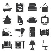 Stock Illustration of home appliance icons