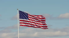 Slowmotion American flag waving - stock footage
