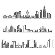 Downtown skyline Stock Illustration