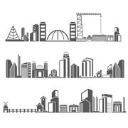 Downtown skyline Stock Illustration