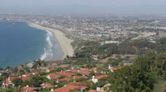 Palos Verdes Over Looking Redondo Beach Stock Footage