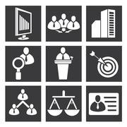 business management icons - stock illustration