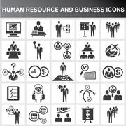 Stock Illustration of human resources icons