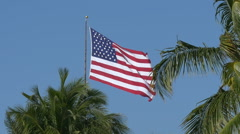 Slowmotion American flag waving Stock Footage