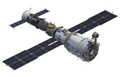 Space Station And Spacecraft - stock illustration