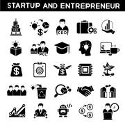 Start up business icons Stock Illustration